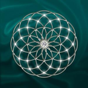 Seed of Life - Tube Torus Silver / Green