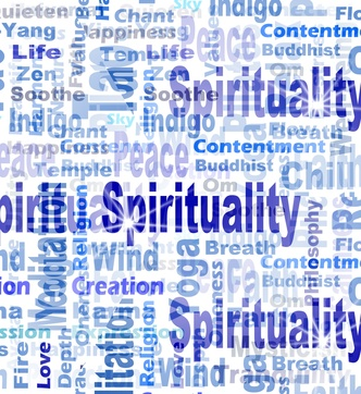 Blue Spirituality Tag or Word Cloud